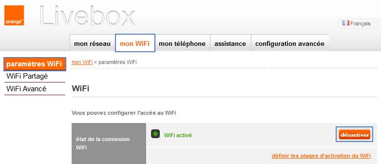 livebox orange connexion mot de passe wifi ssid. Black Bedroom Furniture Sets. Home Design Ideas