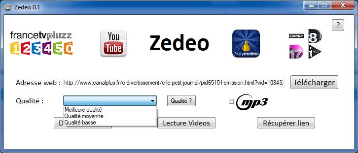 Zedeo (Pluzzed) : Télécharger les vidéos du web
