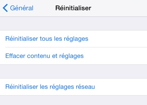 Comment restaurer/réinitialiser un iPhone / iPad / iPod ?