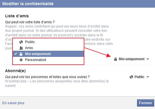 Masquer les notifications d'un ami Facebook