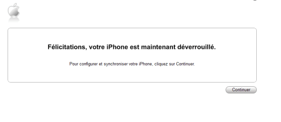 Désimlocker un iPhone avec iTunes