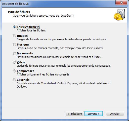 Récupérer des fichiers ou photos supprimés avec Recuva