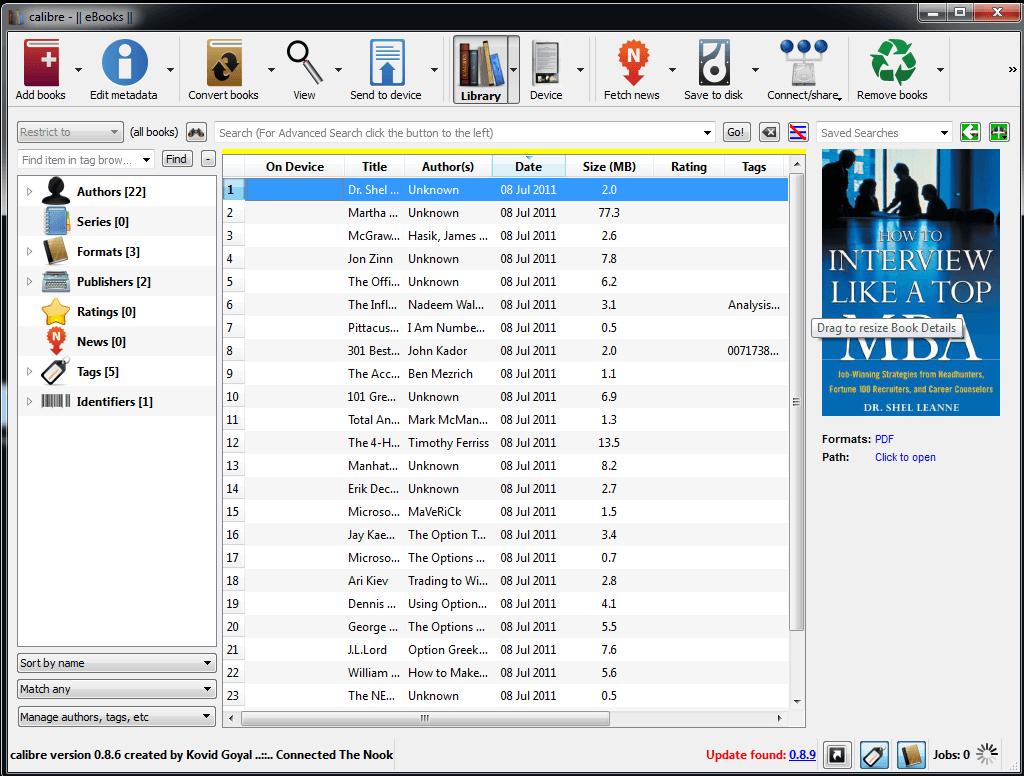 Télécharger Calibre gratuit (eBooks : EPUB, PDF, …)