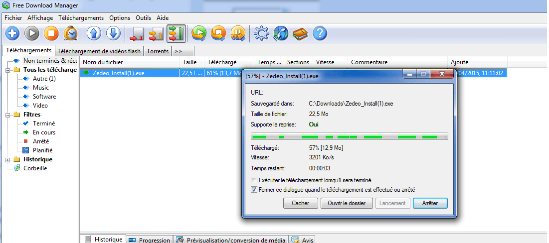 Télécharger Free Download Manager (gratuit)