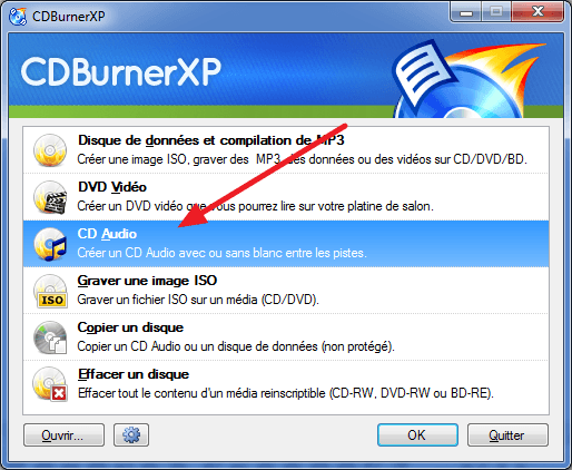 graver un cd audio avec cdburnerxp  u00e0 partir de mp3  wma