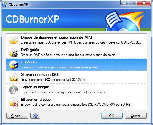 Télécharger CDBurnerXP (gratuitement)