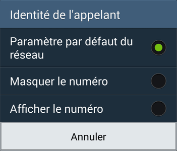 masquer_numéro_android