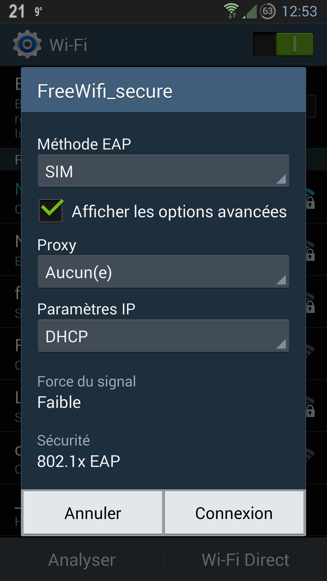 Se connecter à Free Wifi Secure (Android / iPhone)