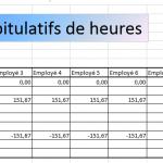 Télécharger calcul des heures de travail Excel (modèle gratuit)