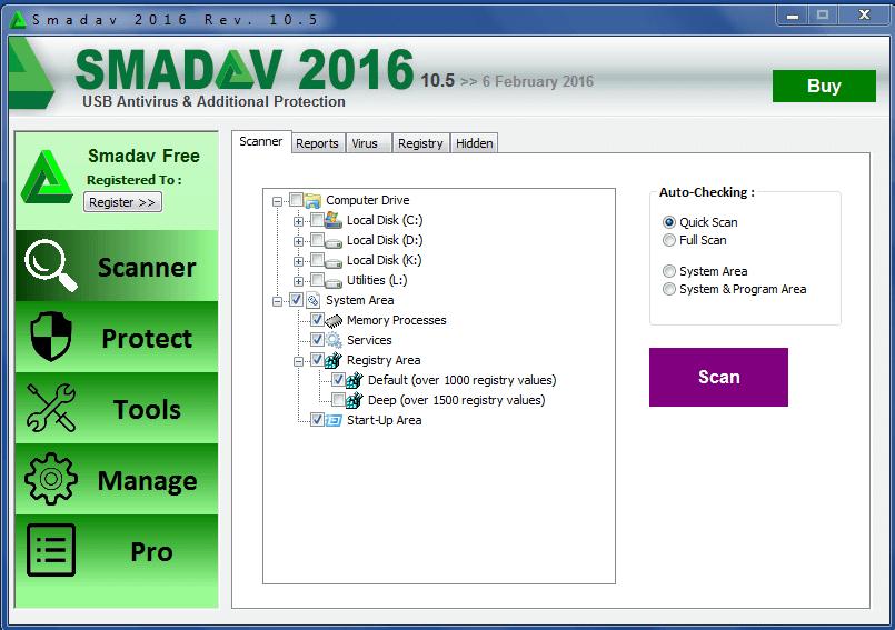 Télécharger SmadAV 2017 antivirus (gratuit)