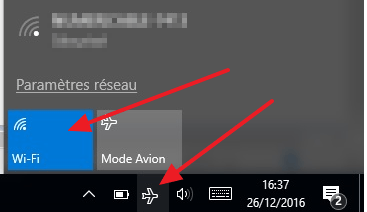 Activer / désactiver le mode avion sous Windows 10