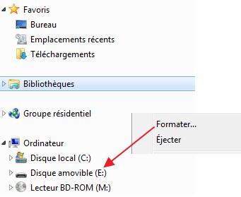 impossible formater clé usb windows 10