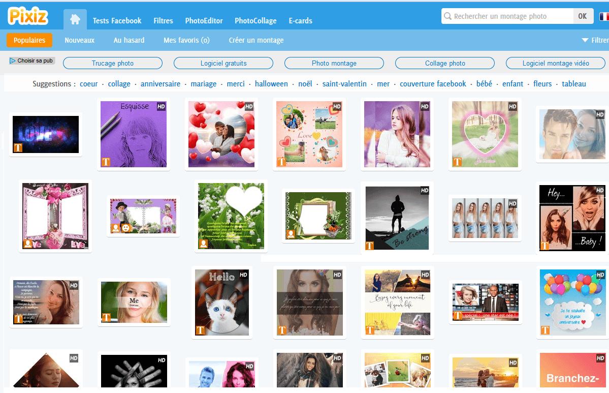 logiciel pixiz montage photo gratuit