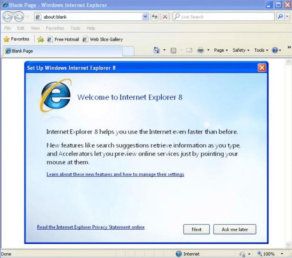 T L Charger Internet Explorer 8 Gratuit (Windows