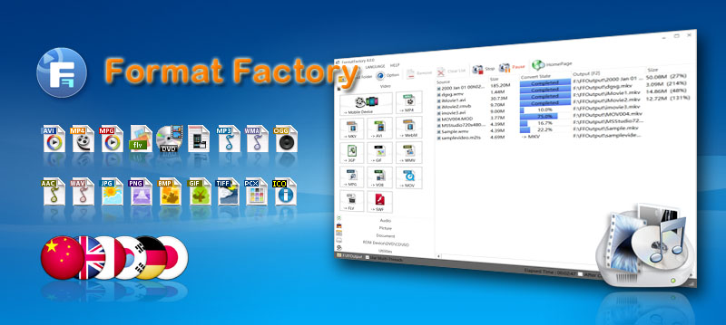 Télécharger Format Factory gratuit (Windows)